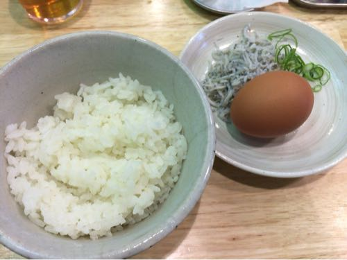 福島壱麺 しらす玉子飯