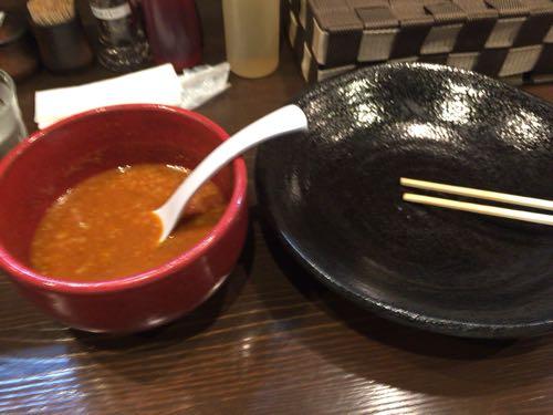 つけ麺 雀 辛つけ麺 完食‼︎