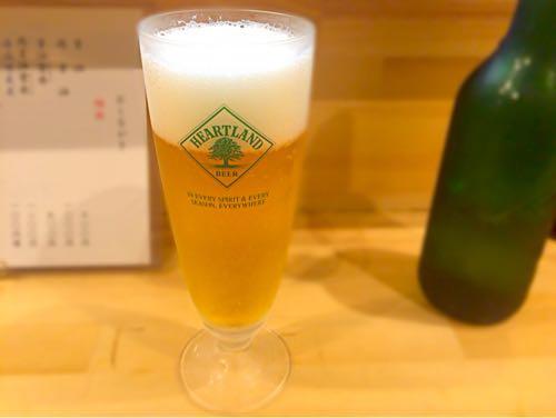 大阪麺哲 ハートランドビール