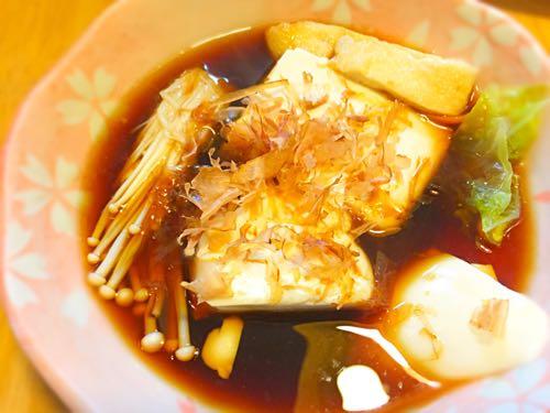 旭ポン酢に湯豆腐