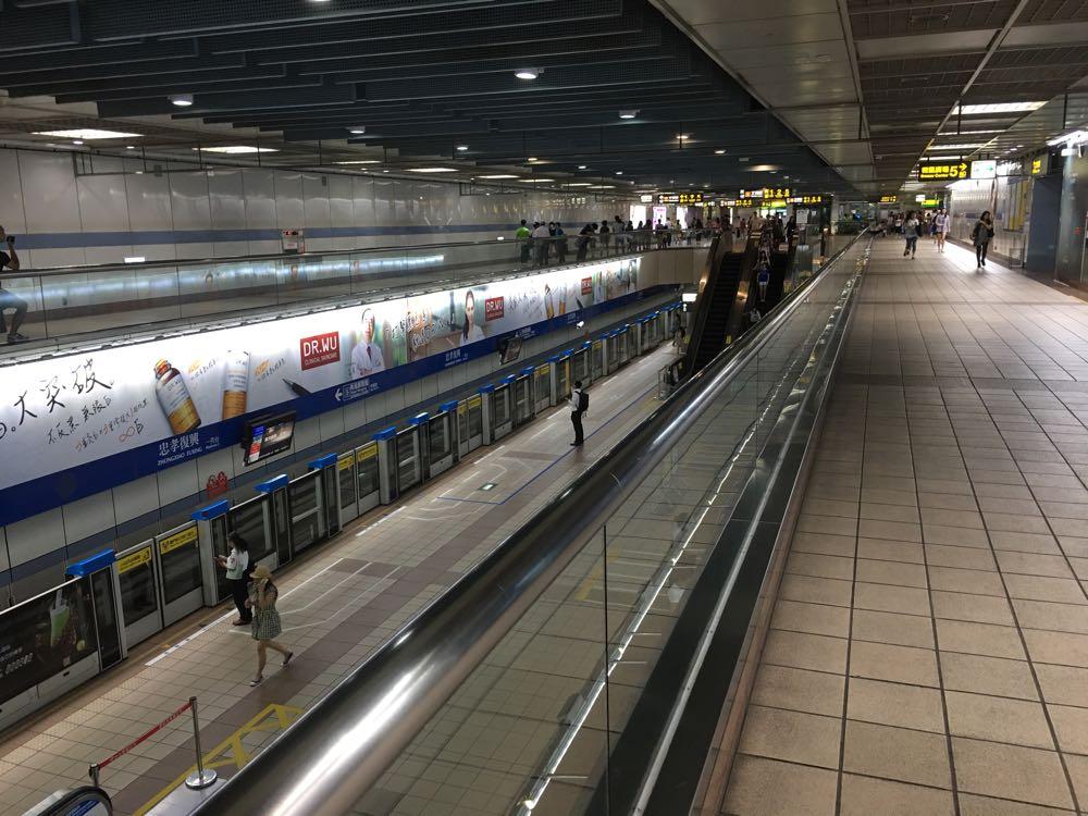 台湾MRT忠孝復興駅