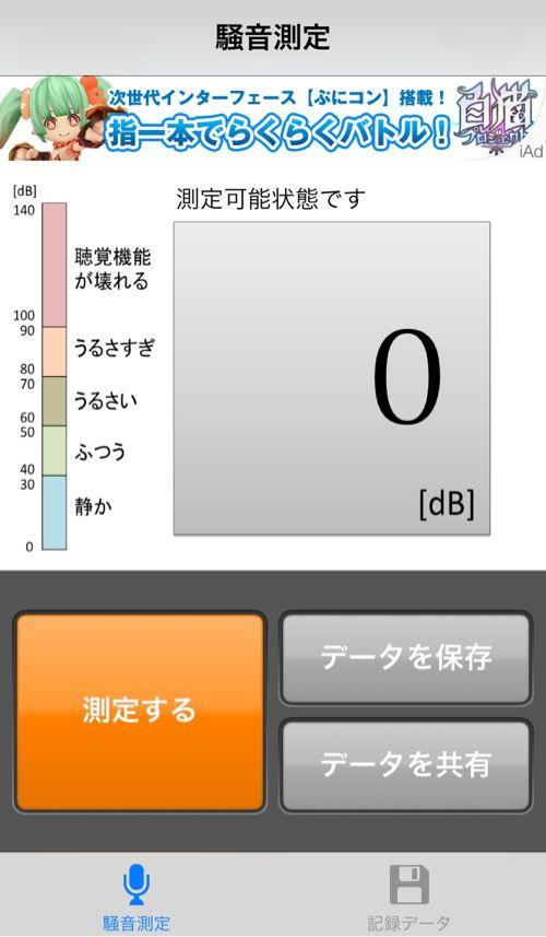 騒音計測メーター