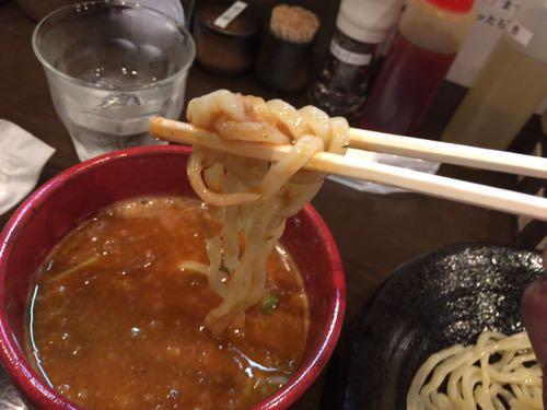 つけ麺 雀 辛つけ麺 麺リフト!