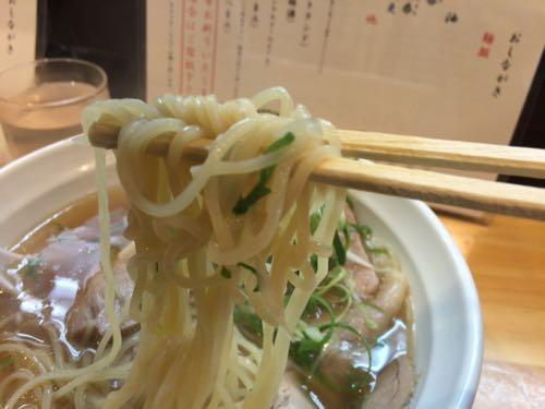 大阪麺哲 肉醤油 多加水麺